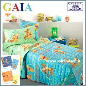 WINNIE THE POOH Gaia - completo lenzuola una piazza  - Caleffi