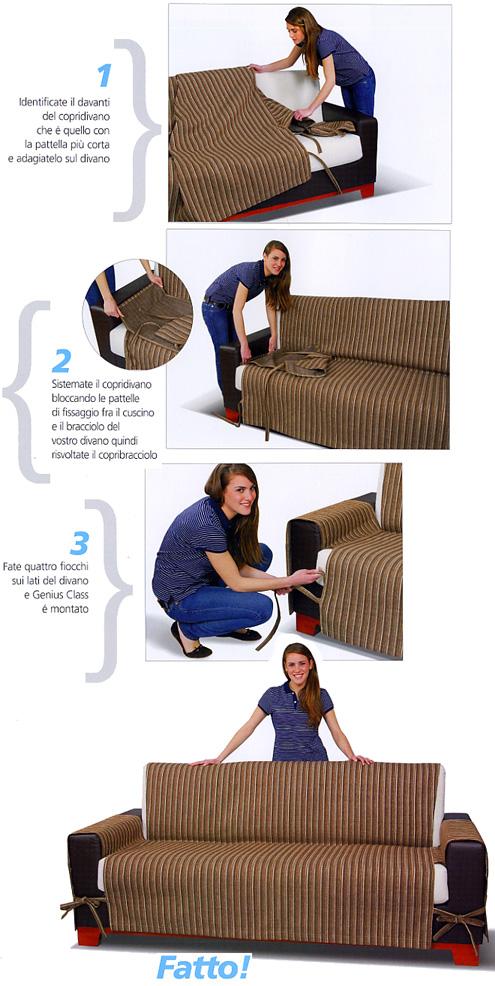 Vendita online genius class copridivano tre posti - Copridivano senza braccioli elasticizzato ...