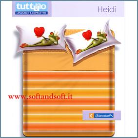 TUTTUNO HEIDI Completo Lenzuola letto singolo - Biancaluna