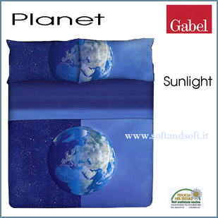 PLANET Sunlight Completo lenzuola letto matrimoniale- Gabel