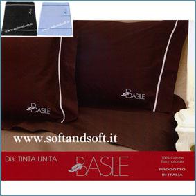 BASILE Tinta Unita Completo lenzuola per letto Matrimoniale