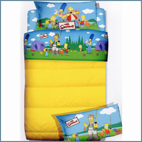 SIMPSONS lenzuola letto Singolo - Camping