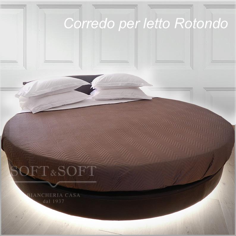 Lenzuola per letto rotondo copriletto per letti rotondi in vendita online - Letto rotondo prezzo ...
