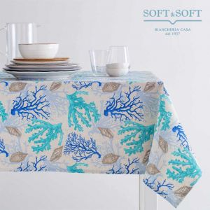 ANTIQUA Printed Tablecloth for 12 People Table cm 140x240