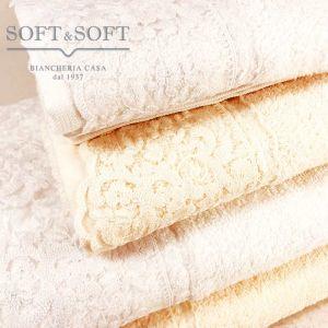 Bruges asciugamani casa in spugna con pizzo set 1+1