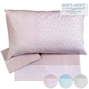 CLOE RIGHE&PALLINI Pure Cotton Sheet Set for DOUBLE Bed