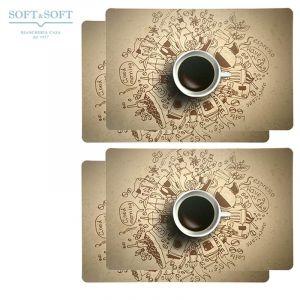 COFFEE BREAK pvc placemat SET 4 PIECES
