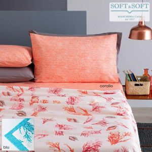 BALI Pure Cotton Sheet Set for Double Bed Coral