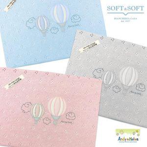 coperta filo cotone ricamo