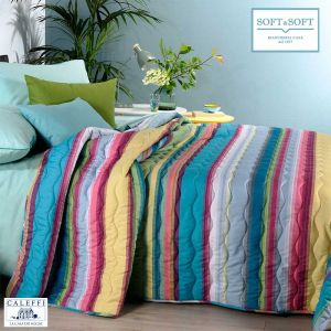 DAYTONA Quilted Bedcover for THREE-QUARTER bed 220x270 by CALEFFI