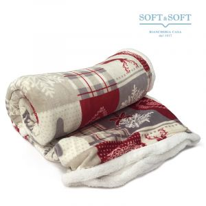 FIOCCO pile blanket single bed size cm 130x160