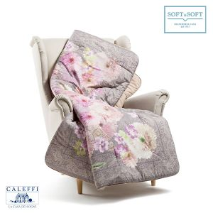 FLORA Scaldotto/Plaid Imbottito Caleffi cm 130x170