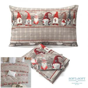 GNOMO duvet parure for double bed in pure cotton fabric