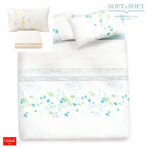 INSPIRATION Bedcover sheet set for double bed in pure cotton by GABEL