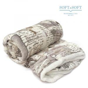 LOVE pile blanket PLAID bed size cm 130x160