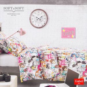 MANGA Duvet Cover Set THREE-QUARTER Bed Size Pure Cotton by GABEL