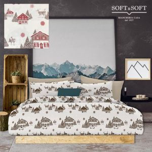 MOUNTAIN duvet cover parure for single bed digital print