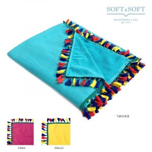 RIO Beachtowel cm 100x170 Microterry with Fringes