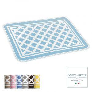 ROMBI bathroom carpet 50x80 cotton made in Italy