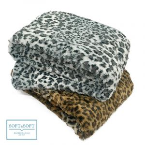 SAVANA coperta plaid 210x240 in pelliccia ecologica