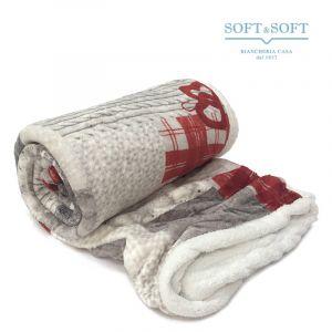 SCOTCH Tirolean plaid in soft and very warm flannel pile lambskin effett 130x160 cm