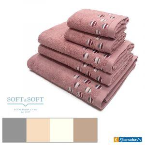 SFERA Bath Towel Set 5 pcs (2 Hand towel, 2 Guest Towel, 1 Bath Towel) BIANCALUNA