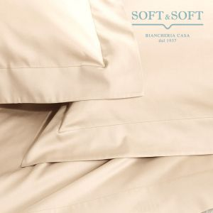 SOFT MAXI Sheet Set KING SIZE Bed cm 200x200+35 Pure Cotton Canvas CREAM