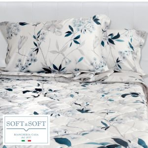 ANGELICA double bed sheets with satin flounce
