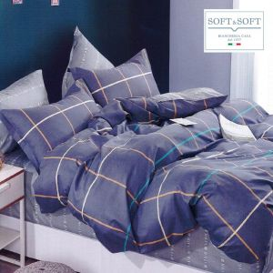 RODI ART.32 Duvet Cover Set Percale Cotton Bed SQUARE AND HALF