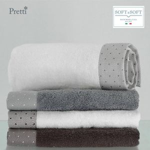 CAMILLA set 2 + 2 terry towels in pure Pretti cotton