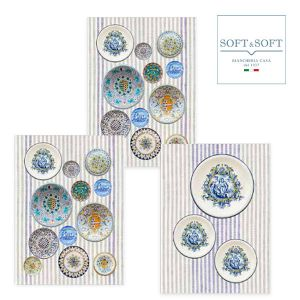 CERAMICHE  tris strofinacci cucina cm 50x70 Stampa Digitale