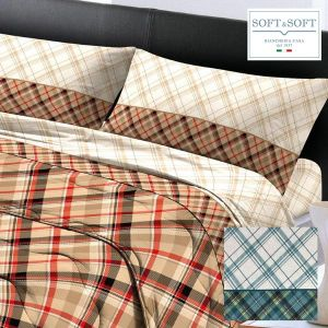 CLEO complete sheets for DOUBLE bed Pure Cotton Flannel