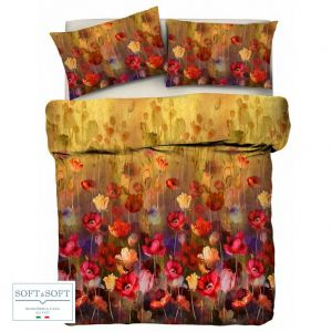 FLOWERY Parure Copripiumino per letto Matrimoniale STAMPA DIGITALE