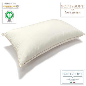 Green Soft guanciale in cotone non trattato imbottitura ricavata da PET