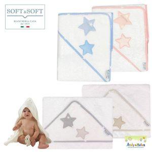 TEDDY D50 newborn bathrobe Baby triangle 75x75 Terry Cotton