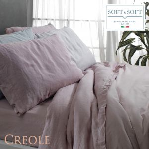 MANILA complete duvet cover one and a half French 140 Misto Lino STONE WASHED