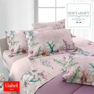 MADELEINE flannel sheet set for DOUBLE cotton GABEL