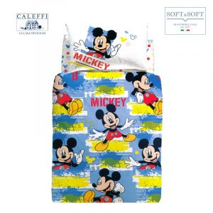 MICKEY ADVENTURE CALEFFI Disney SINGLE Duvet Cover Set
