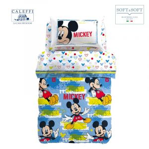 MICKEY AVVENTURA winter quilt SINGLE size cotton Disney by CALEFFI