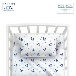 MICKEY NOTTE DI STELLE Disney CALEFFI Cot Sheet Set