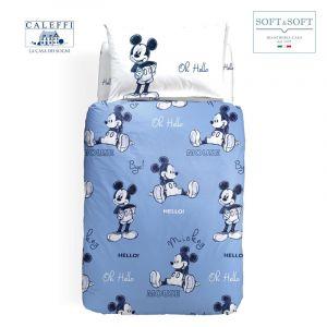 MICKEY OK Completo Copripiumino PIAZZA E MEZZA Disney CALEFFI