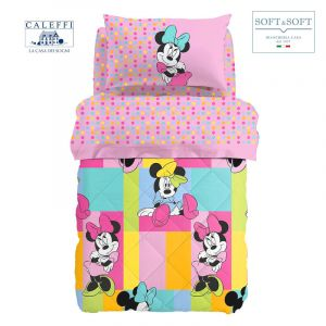 MINNIE GAIA cotton winter quilt three quarter bed Disney by CALEFFI
