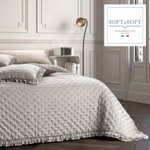 NADIA spring summer quilted bedspread for double bed 260x260 GFFerrari Gray