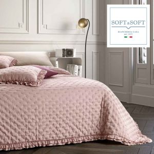 NADIA spring summer quilted bedspread for double bed 260x260 GFFerrari Pink