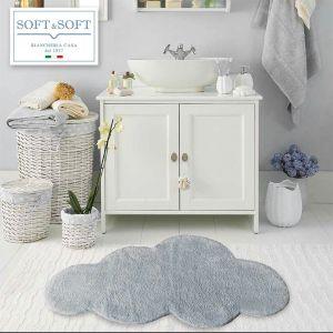 NUVOLA tappeto bagno in puro cotone 60x100-grigio