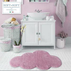 NUVOLA tappeto bagno in puro cotone 60x100-lilla