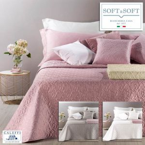 PATRICIA satin double quilted bedspread 270x270 Caleffi