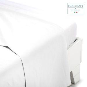 PERCALLE lenzuolo piatto in percalle di puro cotone Maxi cm280x300