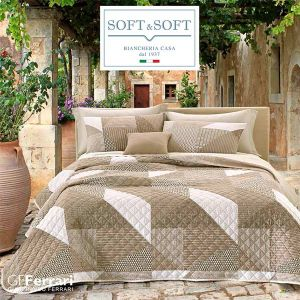PRIMAVERA 31a Geometric Quilted bedcover for Double bed