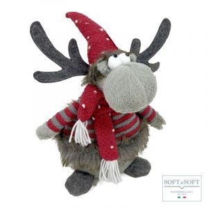 REY renna decorazione natalizia cm 37 (h)